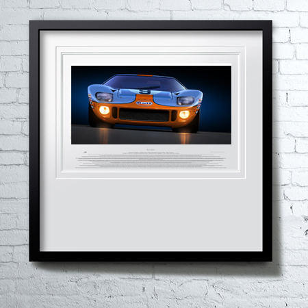 """Wyer-Gulf GT40""<span>original oil on linen</span>"